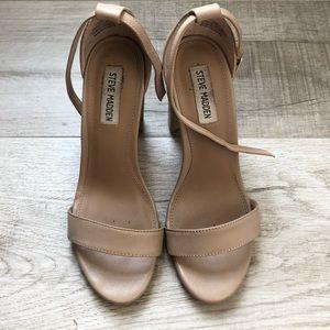 Steven Madden Carson Nude/Blush Block heels